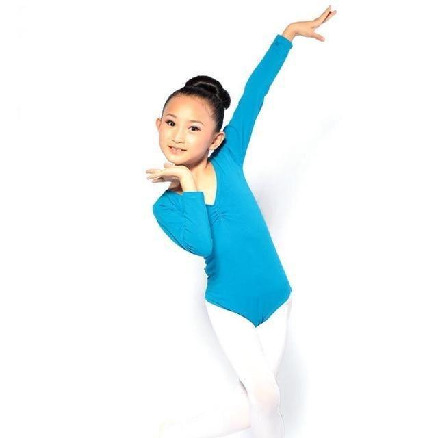 331c1be70d64 Kid Girl Long Sleeve Dance Gymnastics Leotards Ballet Leotard Dress ...