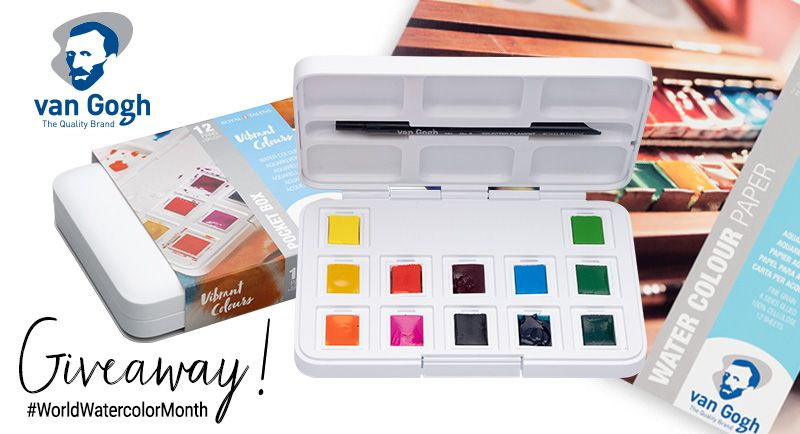 Van Gogh World Watercolor Month Giveaway 2 Van Gogh Watercolor