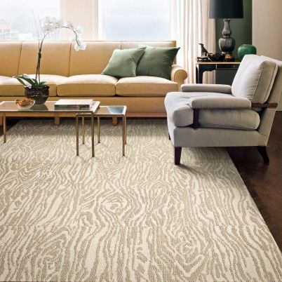 Carpet tiles with what looks like a wood grain pattern Get in my