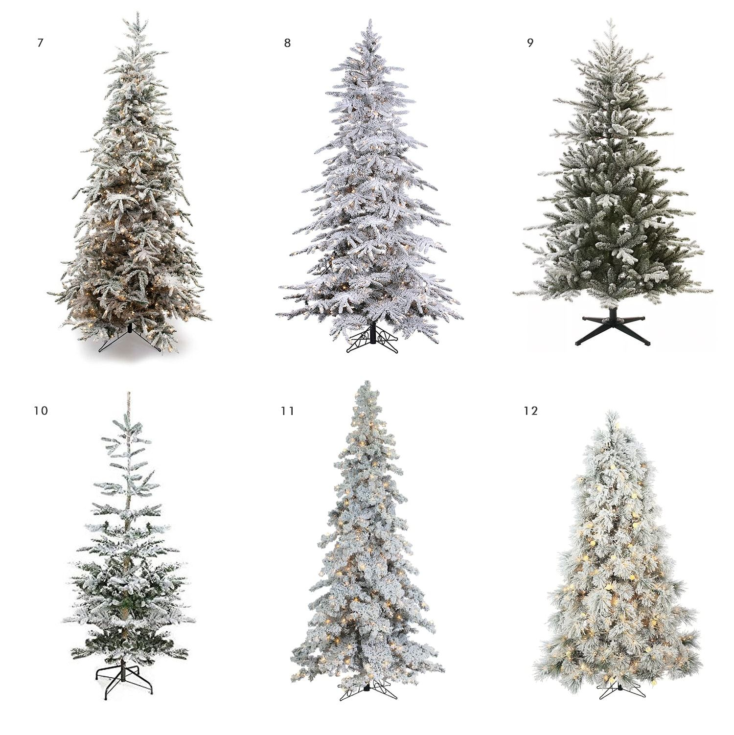 Flocked Trees In Every Shape and Size (With images) | Flocked trees, Flocked christmas trees ...