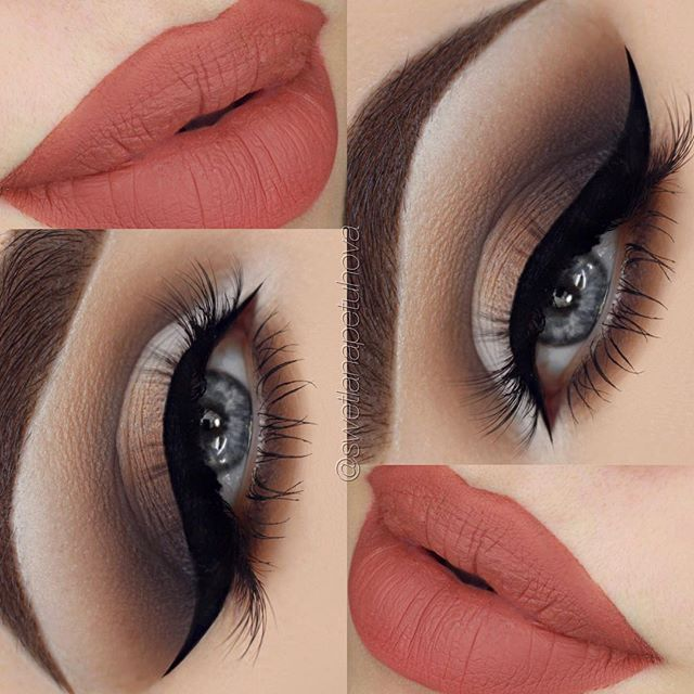 "Brows: @nyxgermany @nyxcosmetics brow pomade in ""brunette"" Eyeshadow: @anastasiabeverlyhills Burnt Orange, Fresh, Fudge @makeupgeekcosmetics Corrupt, Creme Brulee, White Lies Lashes: @lanalashes.de Leslie Liner: @tartecosmetics tarteist liner Lips: @anastasiabeverlyhills ""Ashton"" Liquid Lipstick"