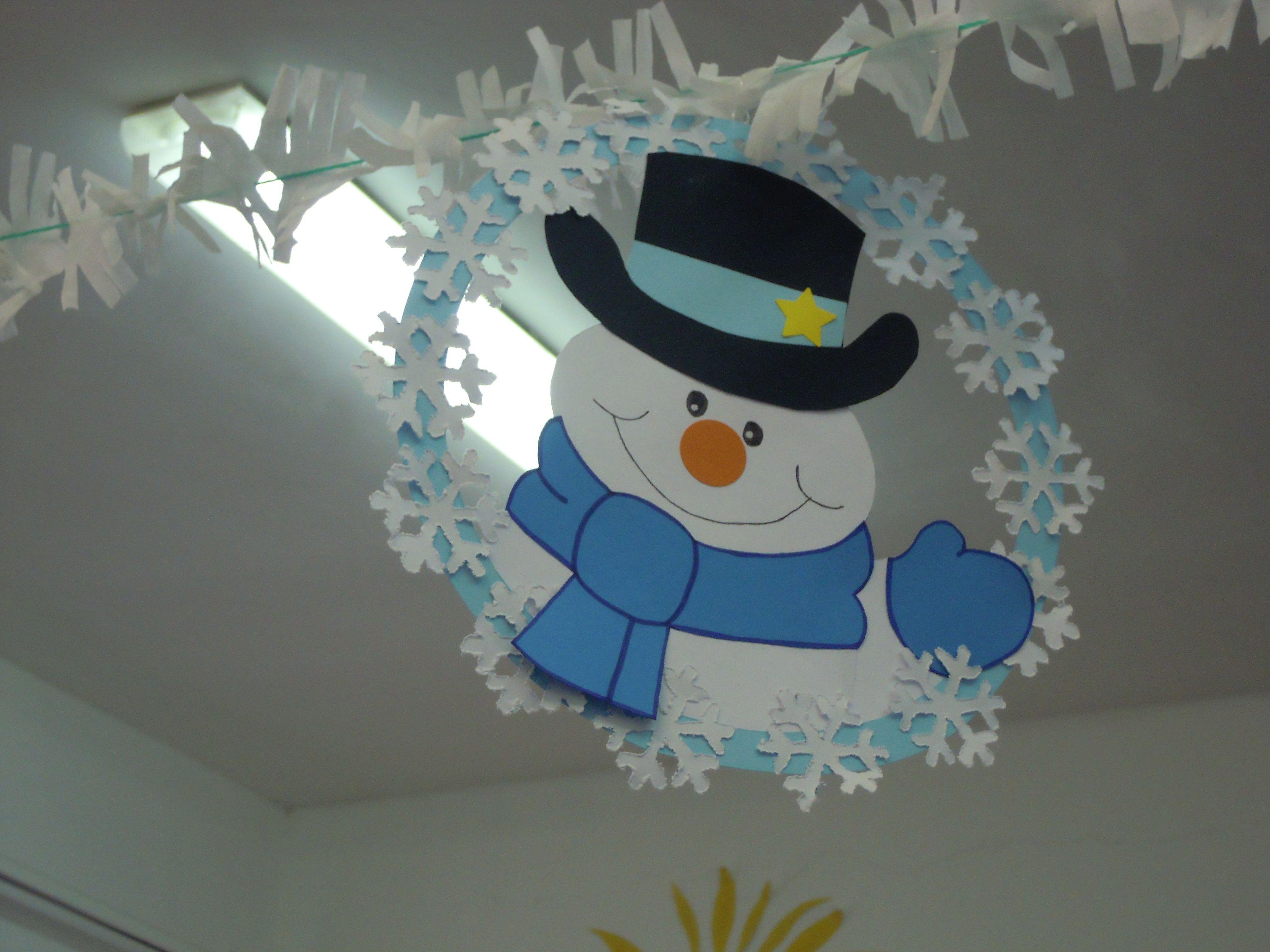 Addobbi aula inverno winter christmas winter crafts for Addobbi aula