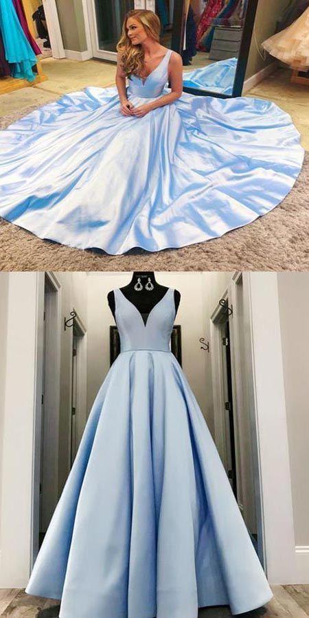 Charming V neck Blue Formal Evening Dress Long Prom Dresses LR4 1Style brand new column mermaid or Aline style 2Length knee length Tea Length or floor length are all avai...