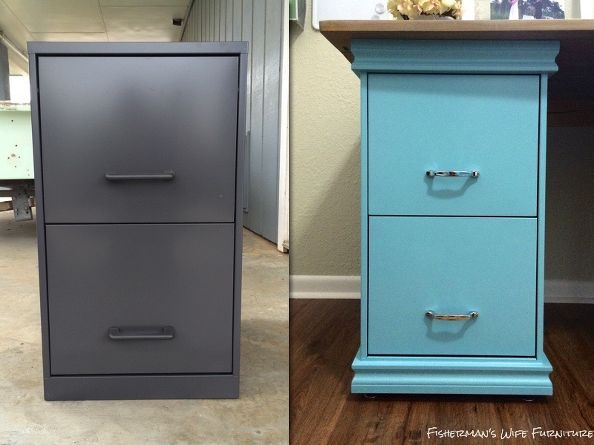 Beautiful Diy Filing Cabinet Desk, Diy, Home Decor, Home Office, Painted Furniture Amazing Pictures