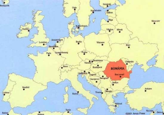 Europa Karte Mit Rumanien Nachbarlander Serbien Europa