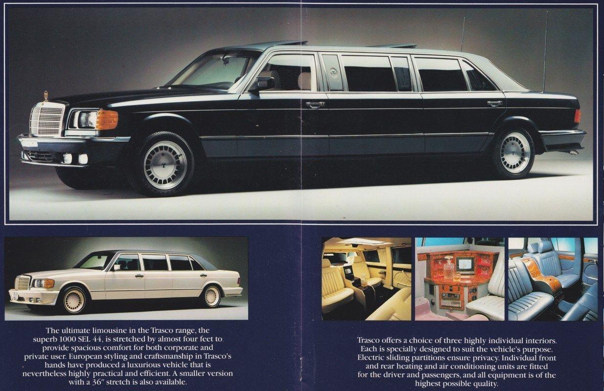 1986 Mercedes Benz 1000sel W126 Stretch Limousine Models Lineup