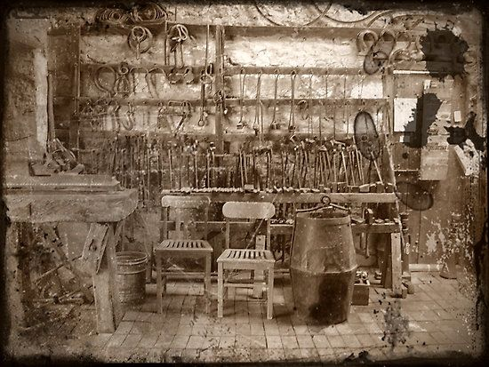 Blacksmith's tools of trade by Enivea; seen on RedBubble.com by Hoofcare + Lameness Journal