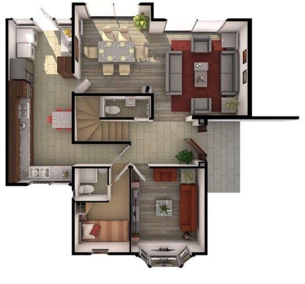 Plano de casa de 3 pisos casas planos pinterest for Planos de casas de 3 pisos