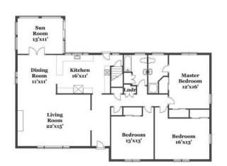 Expanded Ranch Floor Plan Floor Plans Ranch Home Reno House Plans