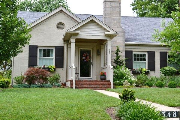 Painted brick a plethora of inspirational pictures bricks - Ranch house exterior paint colors ...