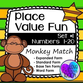 Place Value Activities Numbers 1 20 Math Rotations Expanded Form