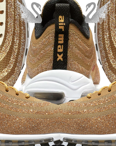 Gold Swarovski x Nike Air Max 97 Already Sold Out | Shoes