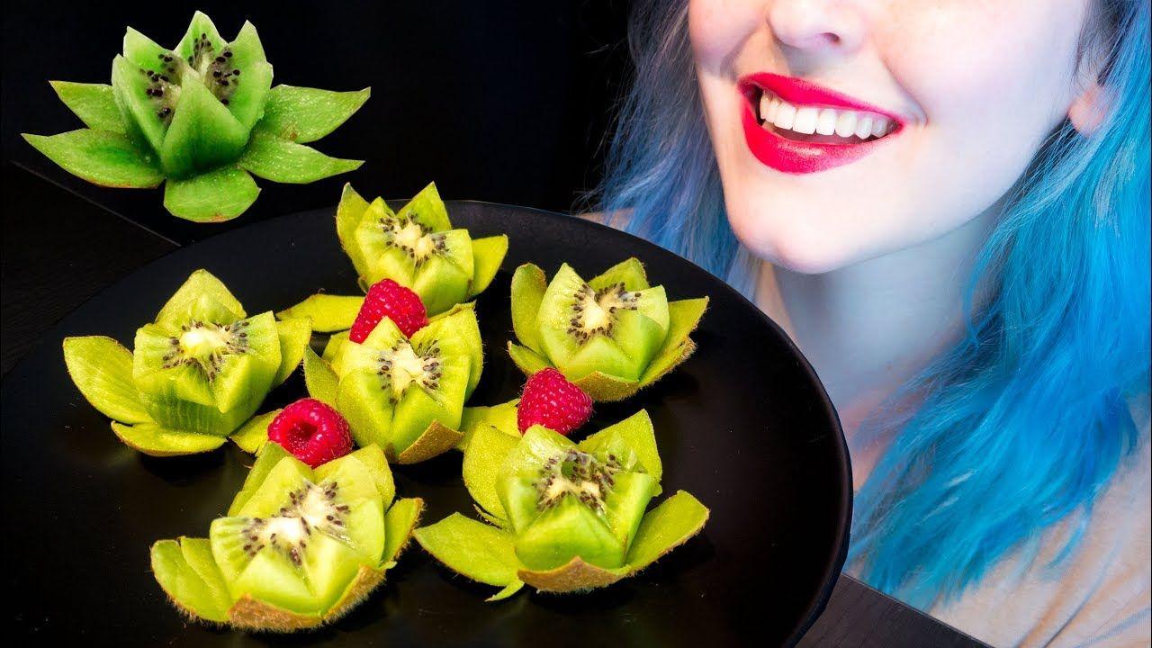 Asmr Fruity Lotus Flower Kiwis How To Cut Enjoy Relaxing