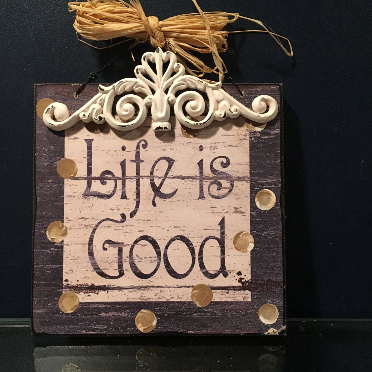 Rustic wood life is good sign rustic wall decor rustic home rustic wood life is good sign rustic wall decor rustic home decor housewarming gift inspirational gift life is good rustic plaque amipublicfo Gallery