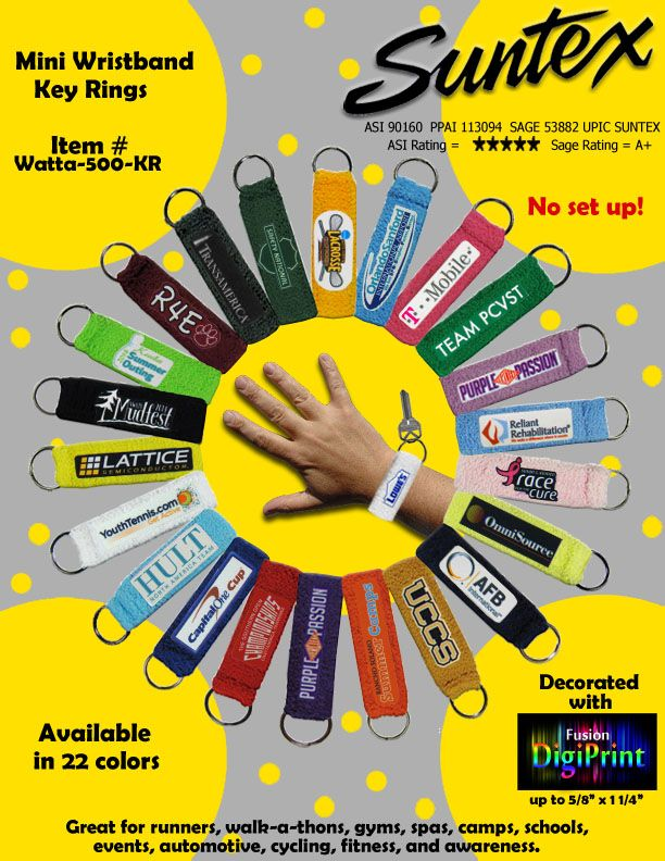 Mini Wristband Keyring Wear Around Your Wrist Or Around Your Ankle Great Item For Camps Gyms And Sporting Activities Many Differe Mini The Cure Color Coding