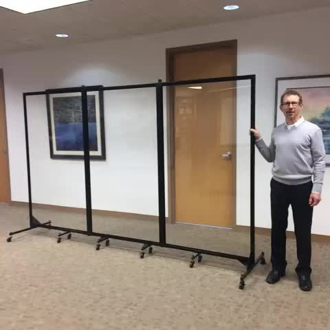 The Clear Acrylic Room Divider Portable lightweight and writable