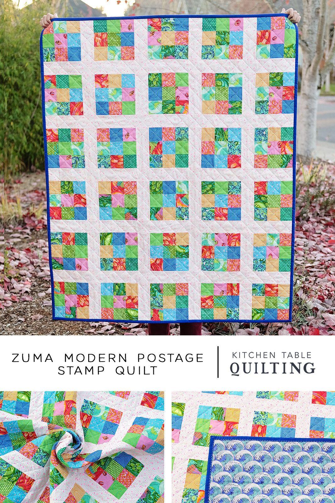 Zuma Modern Postage Stamp Quilt