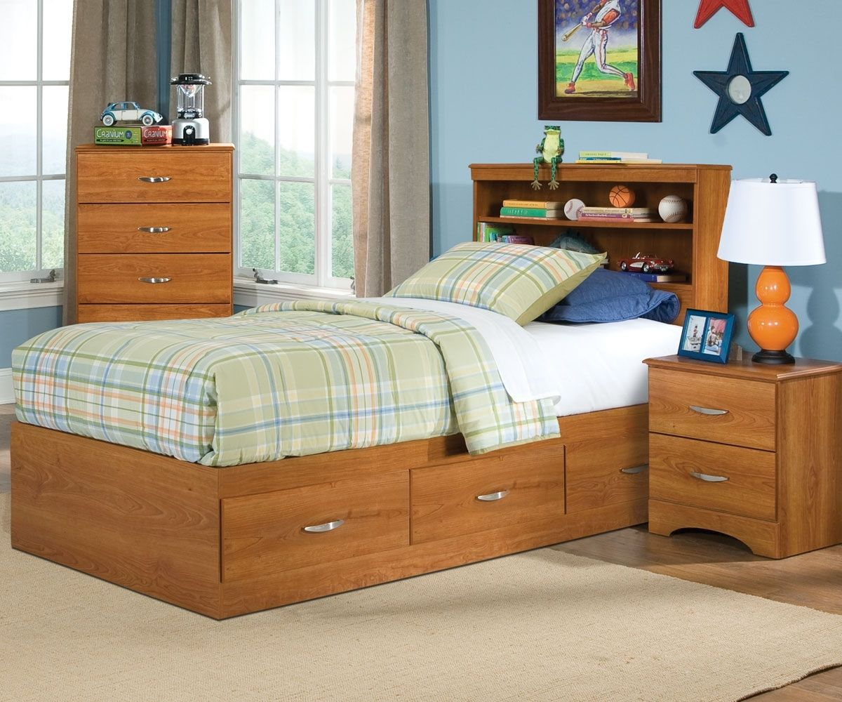 Twin Size Captains Bed With 3 Drawers | http://ezserver.us | Pinterest