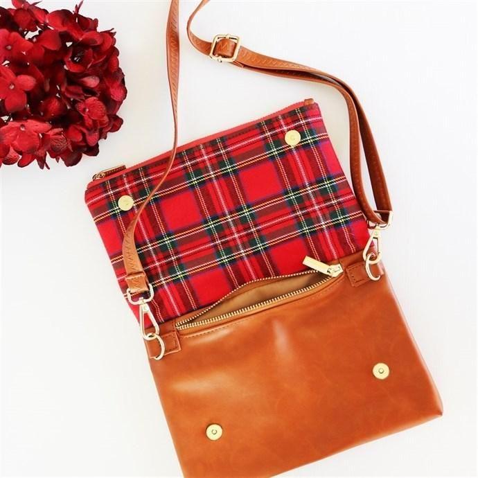 Jane.com - Krafty Chix Monogrammed Plaid Crossbody Bag - AdoreWe.com
