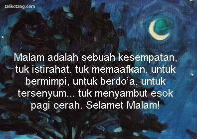 Ucapan Selamat Malam Buat Sahabat Selamat Malam Malam Sahabat