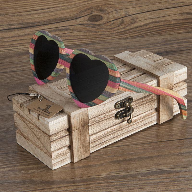 abdb804b23 Click to Buy    BOBO BIRD Brand Unique Design Heart-shaped Wood Sunglasses  Women Fashion Sun glasses Ladies Memento Gift Drop Ship  Affiliate