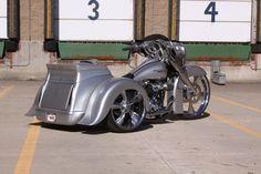 Silver Indian trike