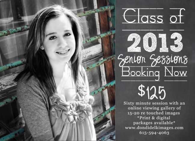 Senior Sessions Ad Session Photos Photography Business Flyer Template