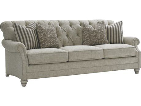 Delightful Lexington Oyster Bay Greenport Tufted Back Sofa