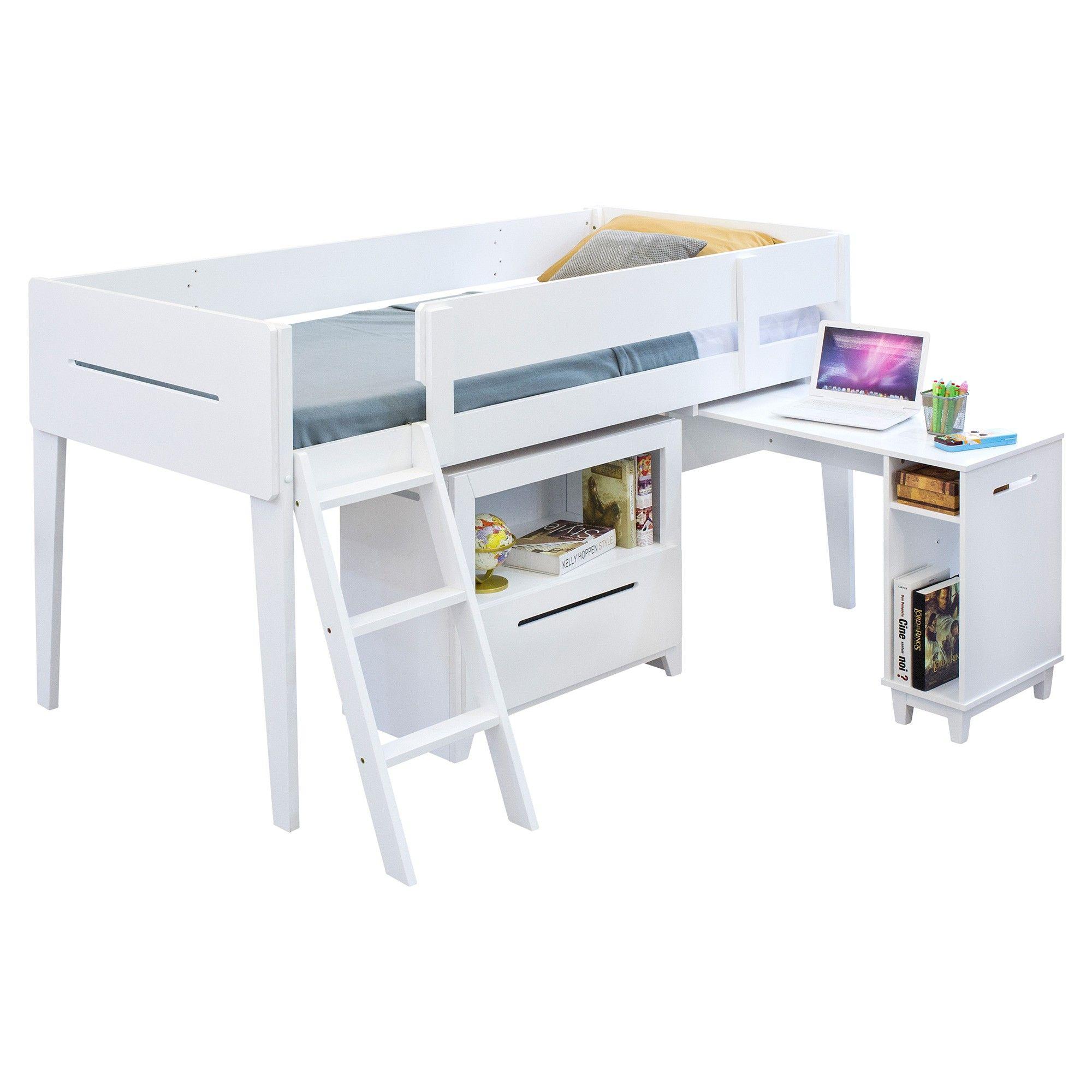 Nucla Timber Midi Sleeper Single Loft Bed Single Loft Bed