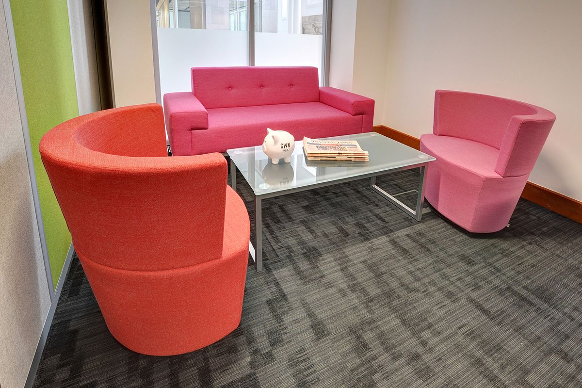 Government Agency High back chairs, Soft seating, Pink