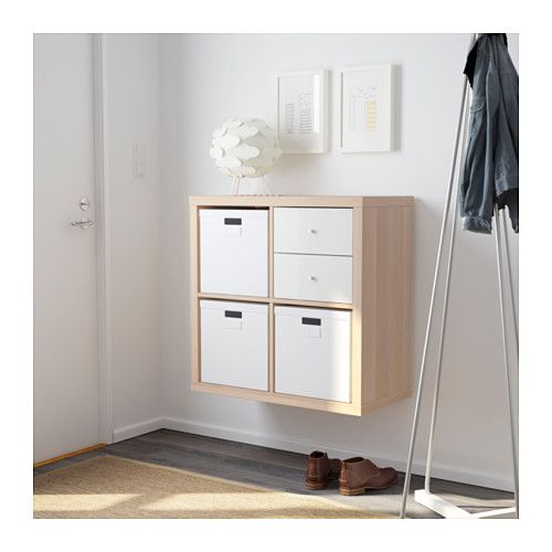 kallax shelving unit white stained oak effect ikea. Black Bedroom Furniture Sets. Home Design Ideas