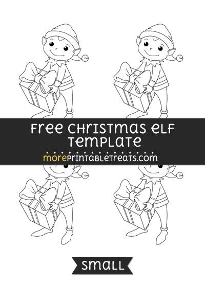 Free Christmas Elf Template - Small Shapes and Templates