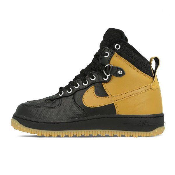 quality design 2f620 416f0 NIKE AIR FORCE 1 DUCKBOOT BLACK WHITE GUM LIGHT BROWN 444745-006 8 - 12  Nike BasketballShoes