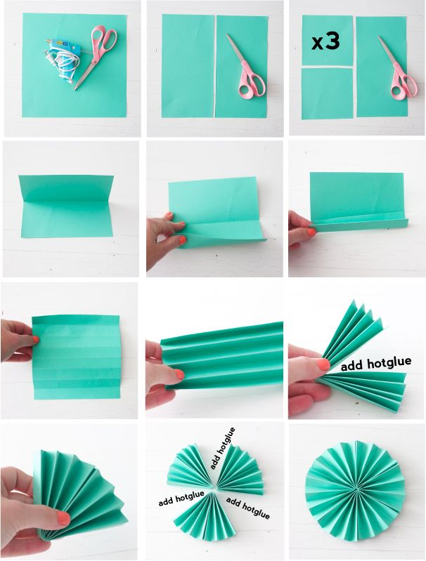 Paper Fans On Pinterest Paper Rosettes Bamboo Crafts