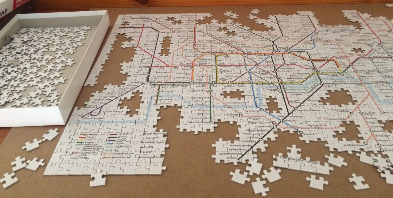 New York Subway Map Puzzle.White Space On Maps May Be Good For Readability But Not So Much For