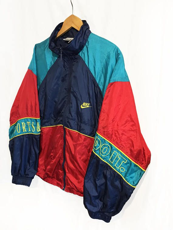 Rare Vintage 90s Nike Just Do It Windbreaker Tracksuit top  b084bf63b