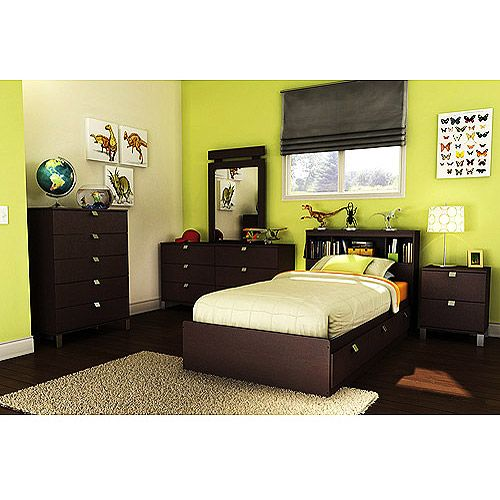 South Shore Cakao Twin Bedroom, Chocolate