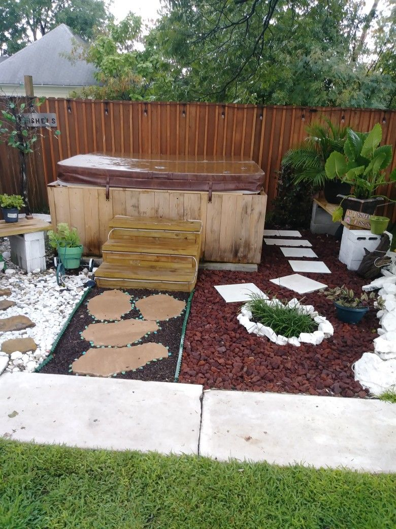 hot tub landscaping budget