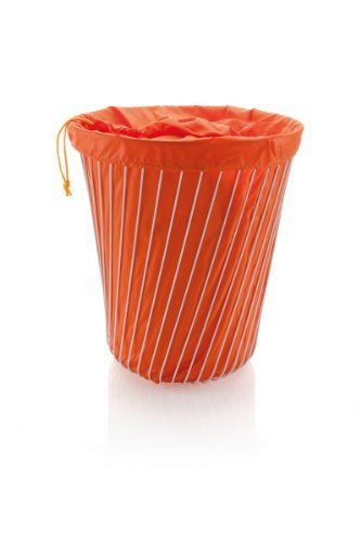 A Tempo Laundry Basket Color Orange By Alessi 187 00 Fabric Lining Stainless Steel White Finish Approximate Size H Laundry Basket Alessi Modern Hampers