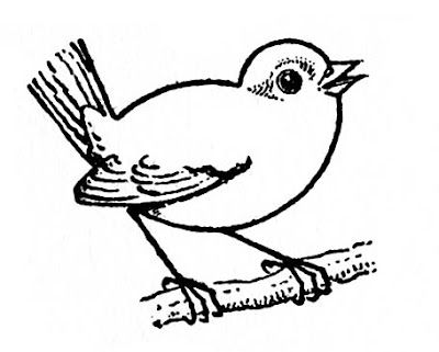 Click Here For The Full Size Printable Pdf It S Been A Little While Since I Ve Posted One Of These This Bird Drawings Bird Drawing For Kids Bird Line Drawing