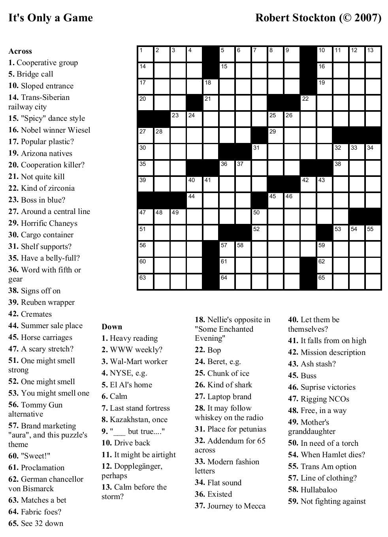 Free Online Crossword Puzzle Maker Printable Free Printable Crossword Puzzles Printable Crossword Puzzles Crossword Puzzles