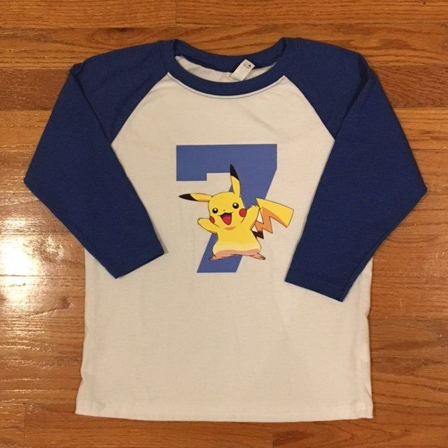 Personalized Pokemon Birthday Shirt By Giftalicious4U On Etsy