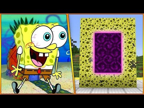 Minecraft Spongebob How To Make A Portal To Bikini Bottom Youtube