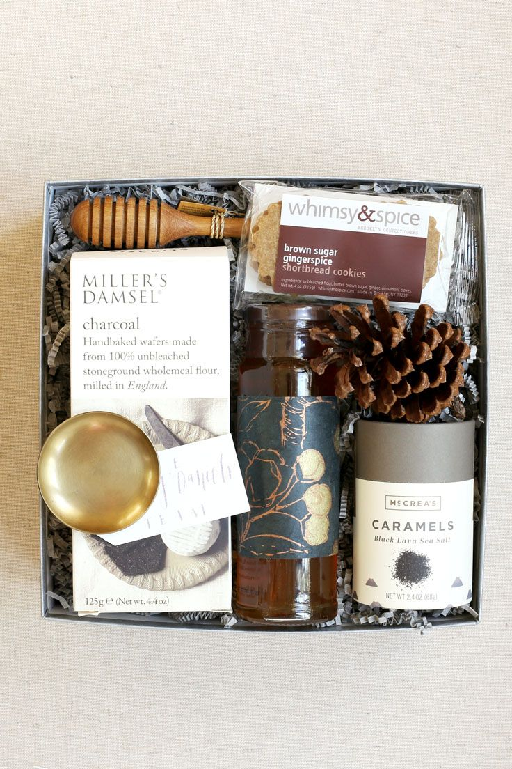 Custom Fall Client Gift By Pumeli Features Wafers Tupelo Honey Slow Cooked Caramels And Shortbread Cookies