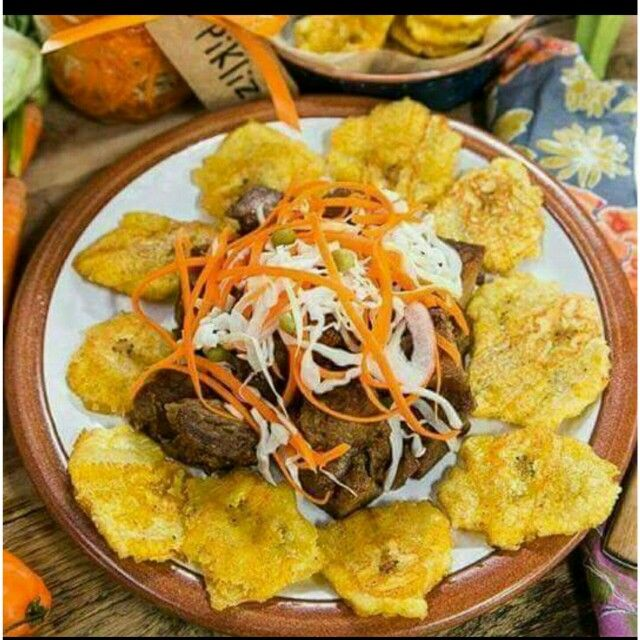 Banana Avec Griot /Pickliz | Haitian food recipes, Soul ...