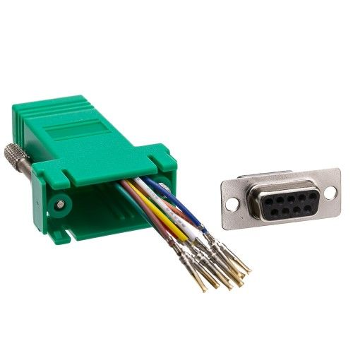 Modular Adapter Green Db9 Female To Rj45 Jack Best Bond Walmart Shopping Packing