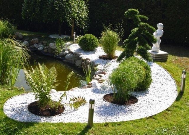 16 Gartengestaltung Mit Steinen Und Grasern Modern Garten Gartengestaltung Vorgarten
