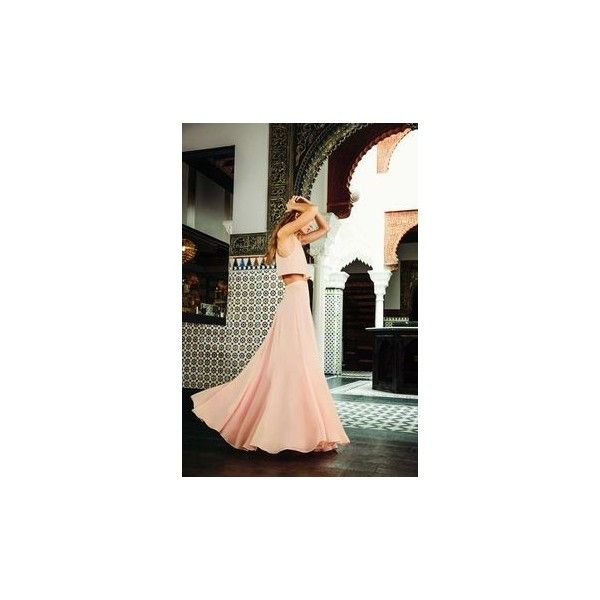 'Twas a Dream Blush Maxi Skirt ❤ liked on Polyvore featuring skirts