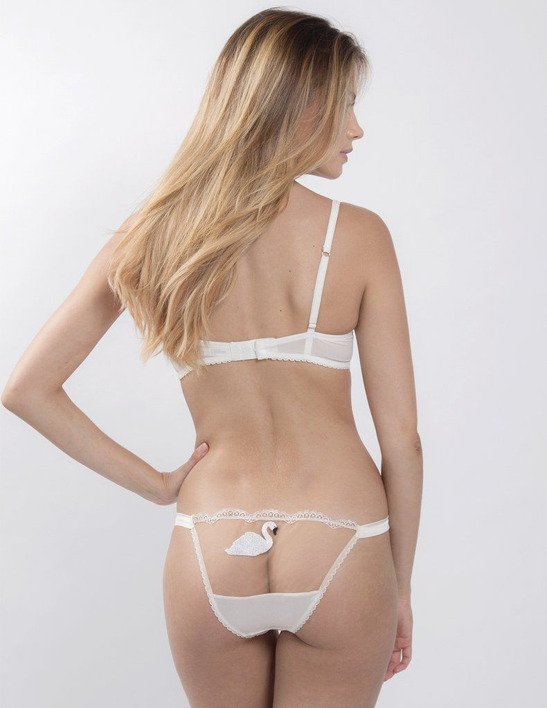 6c5cf2bc8a6 Swan Lake | Luxury Designer White Lace Hipster Knickers – Mimi Holliday