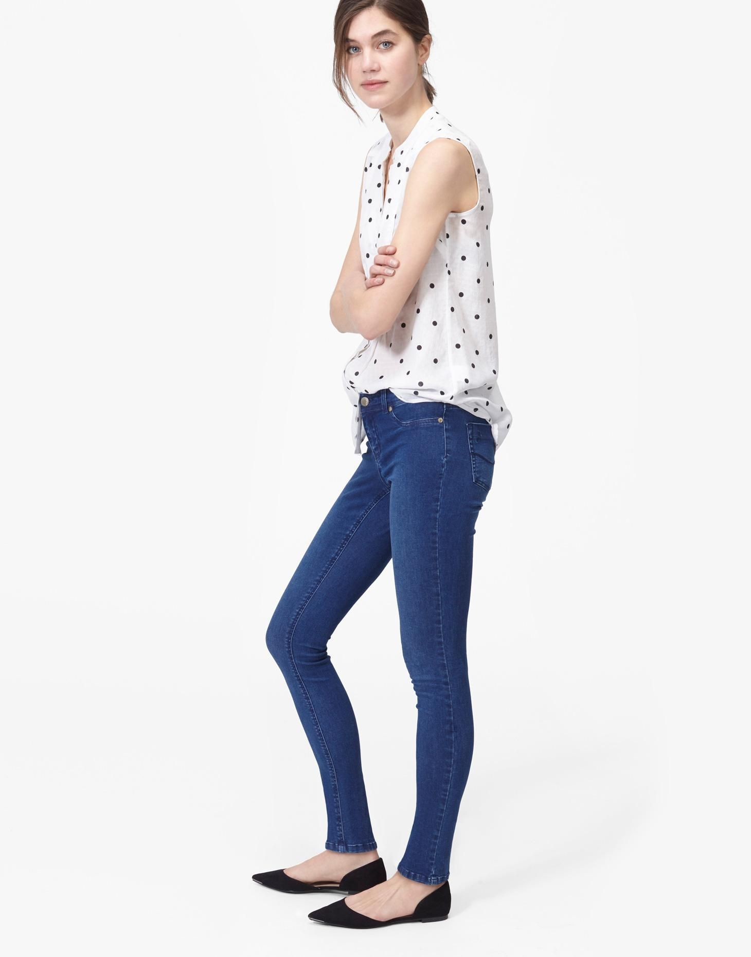 d91276a963073 Monroe Dark Denim Skinny Stretch Jeans | Joules US | Joules at J ...